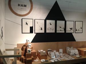 イースト・ロンドン・デザイン・ショー2013。ブースのトータルデザインが素敵。
