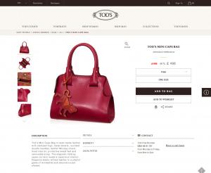 Tod s Mini Cape Bag XBWAMGA71009MA0O36  All  Bags  Spring Summer  Shop Woman   Tod s
